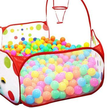 ICIKU7Q 90cm Foldable Kids Children Ocean Ball Pit Pool Ball Play Toys Tent Pop up Hexagon Polka Dot Children Ball Play Pool Tent