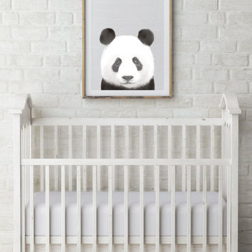 Panda Art print, Panda nursery art, Printable art, Nursery decor, Animal art, Baby animals, Nursery wall art, Kids art, Zoo animal nursery