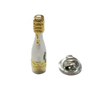 Champagne Sparkling Wine Bottle Lapel Pin
