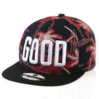 Summer Leaf Embroidery Alphabet Ladies Baseball Cap Hip-hop Hats [4917645764]