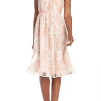 Maggy London Trailing Daisy Lace Midi Dress (Regular & Petite) | Nordstrom