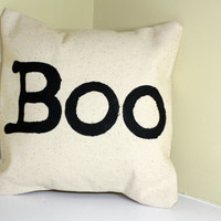 Boo Pillow Cover, Just in Time for Halloween, #Halloween #boo #pillow #bedroom #want