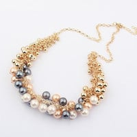 Shiny Gift Jewelry New Arrival Korean Vintage Palace Pearls Stylish Necklace [6586261127]