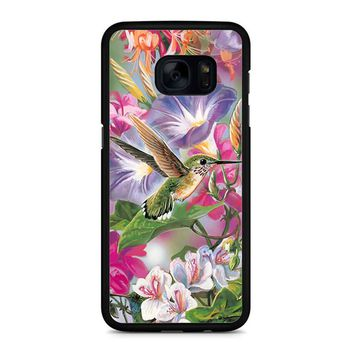 Hummingbirds And Flowers Samsung Galaxy S7 Edge Case