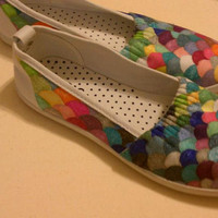 Rainbow fish shoes by NRPdesign on Etsy