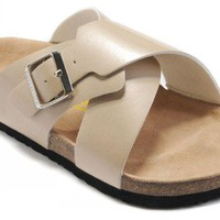 Birkenstock Guam Sandals Leather Cream