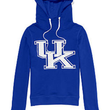 University of Kentucky Bling Funnel-neck Hoodie - PINK - Victoria's Secret