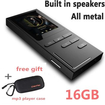 8G/16G Hi-Fi MP3 Player Lossless Music Player 50 Hours Playback Build-in Speaker Voice Recorder / FM Radio Expandable Up to 64GB