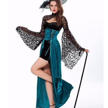 MOONIGHT Sexy Witch Costume Deluxe Adult Womens Magic Moment Costume Adult Witch Halloween Fancy Dress