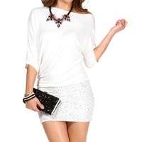 White Off The Shoulder Tunic