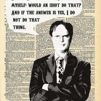 The Office Dwight Schrute Dictionary Art Print