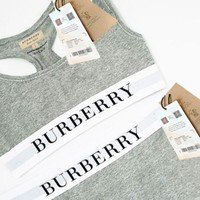 Burberry 2018 street fashion women's sports vest top trousers two-piece F/A