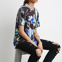 Longline Watercolor Floral Top