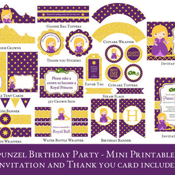 Shop Rapunzel Birthday Party Invitations on Wanelo