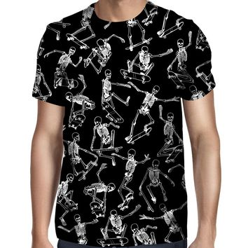 Skateboarding Skulls Black T-Shirt