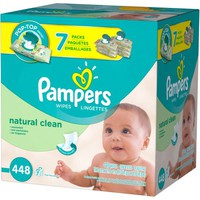 Pampers Natural Clean Baby Wipes, Unscented, 7 Pop-Top packs of 64 (448 count) - Walmart.com