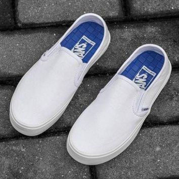 VLXZRBC Vans Slip-On Classic Canvas Flats Sneakers Sport Shoes
