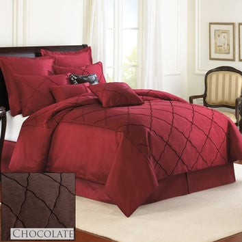 Veratax Home Decorative Bedding Collection Diamonte Boudoir Pillow Black 14 x 20