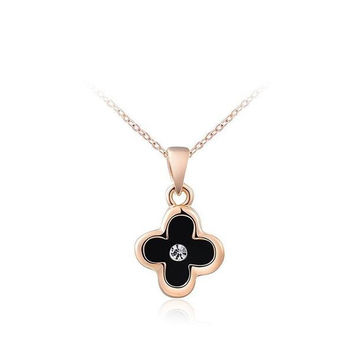 Shiny Stylish New Arrival Gift Jewelry Hot Sale Black Pendant Ladies Necklace [9281905156]