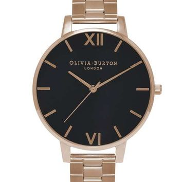**Black Dial Watch by Olivia Burton