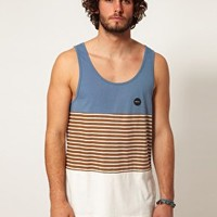 RVCA Vest Sin Layered Stripe at asos.com