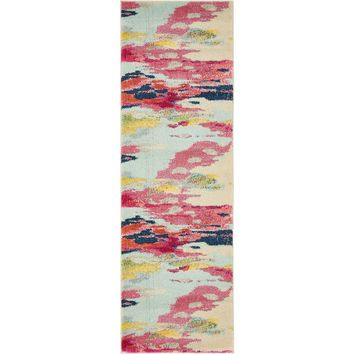 Unique Loom Barcelona Pink 2 ft. 2 in. x 6 ft. 7 in. Runner-3136227 - The Home Depot