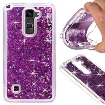 Dynamic Liquid Glitter Sand Soft TPU Case for LG Stylus 2 Plus Cover Quicksand Mobile Phone Shell