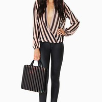 Twisted Lines Blouse - Pink