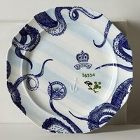 From The Deep Dinner Plate by Anthropologie in Blue Motif Size: Dinner Plate Kitchen