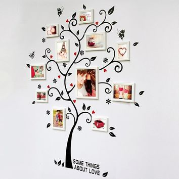 Chic Black Family Photo Frame Tree Mural Wall Sticker Home Decor Decals