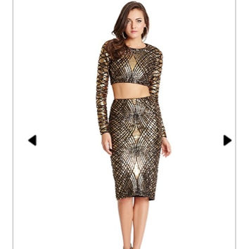 Anya Two Piece Sequin Dress (Guess by Marciano)