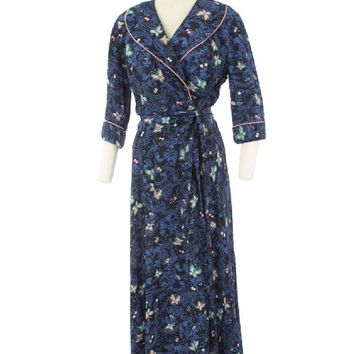 Evelyn Pearson 40s Rayon Novelty Print Robe-Dressing Gown