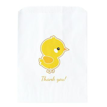 Cute Chickie White Favor Bag