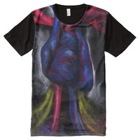 Sounds Of A Blue Heart Anatomical Science Art All-Over Print T-shirt