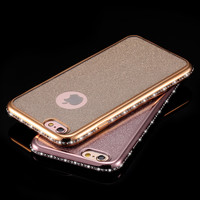 Diamond Frame Slim Soft Case for iPhone