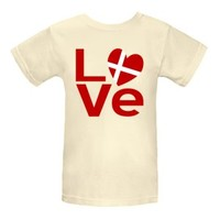 Denmark in Love Women's Natural Organic T-Shirt | Flags of Nations or Flagnation