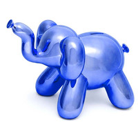 Elephant Balloon Bank - Blue