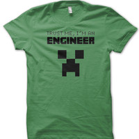Minecraft Creeper Engineer Kids Tee