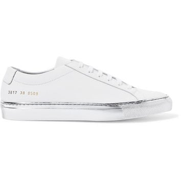 Common Projects - Original Achilles metallic-trimmed leather sneakers