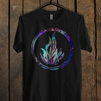 Divergent Dauntless The Brave Logo in Galaxy  Mens T Shirt and Womens T Shirt *76*
