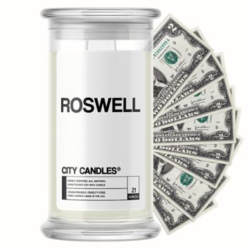 Roswell City Cash Candle