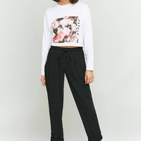 Light Before Dark Tie-Front Pant | Urban Outfitters