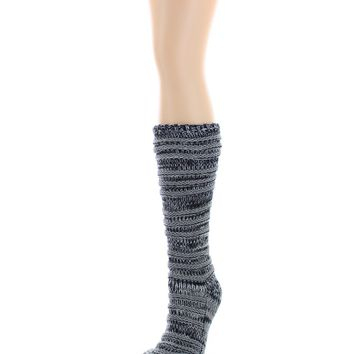 Tri Line Sherpa Lined Lounge Sock