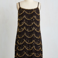 20s Sleeveless Shift Twinkle, Twinkle, Little Starlet Dress
