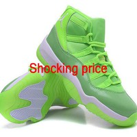 Cheap sneakers Air Jordan 11 GS Neon Green Lime Green shoe