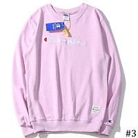 Champion 2018 embroidery men and women sketch couples sweater F-A-KSFZ #3