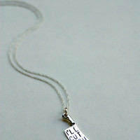 The Betty Collection: I'll Cut You Necklace in Silver