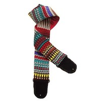 Colorful African Style Handmade Guitar Strap Kente Cloth Weave Design