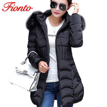 2017 Womens Winter Jackets And Coats Thick Warm Hooded Jacket Cotton Padded Parkas For Women's Winter Jacket Femme A193-1