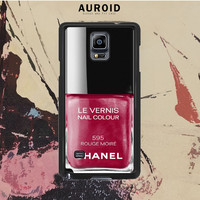 Chanel Nail Polish Rouge Moire Samsung Galaxy Note 4 Case Auroid